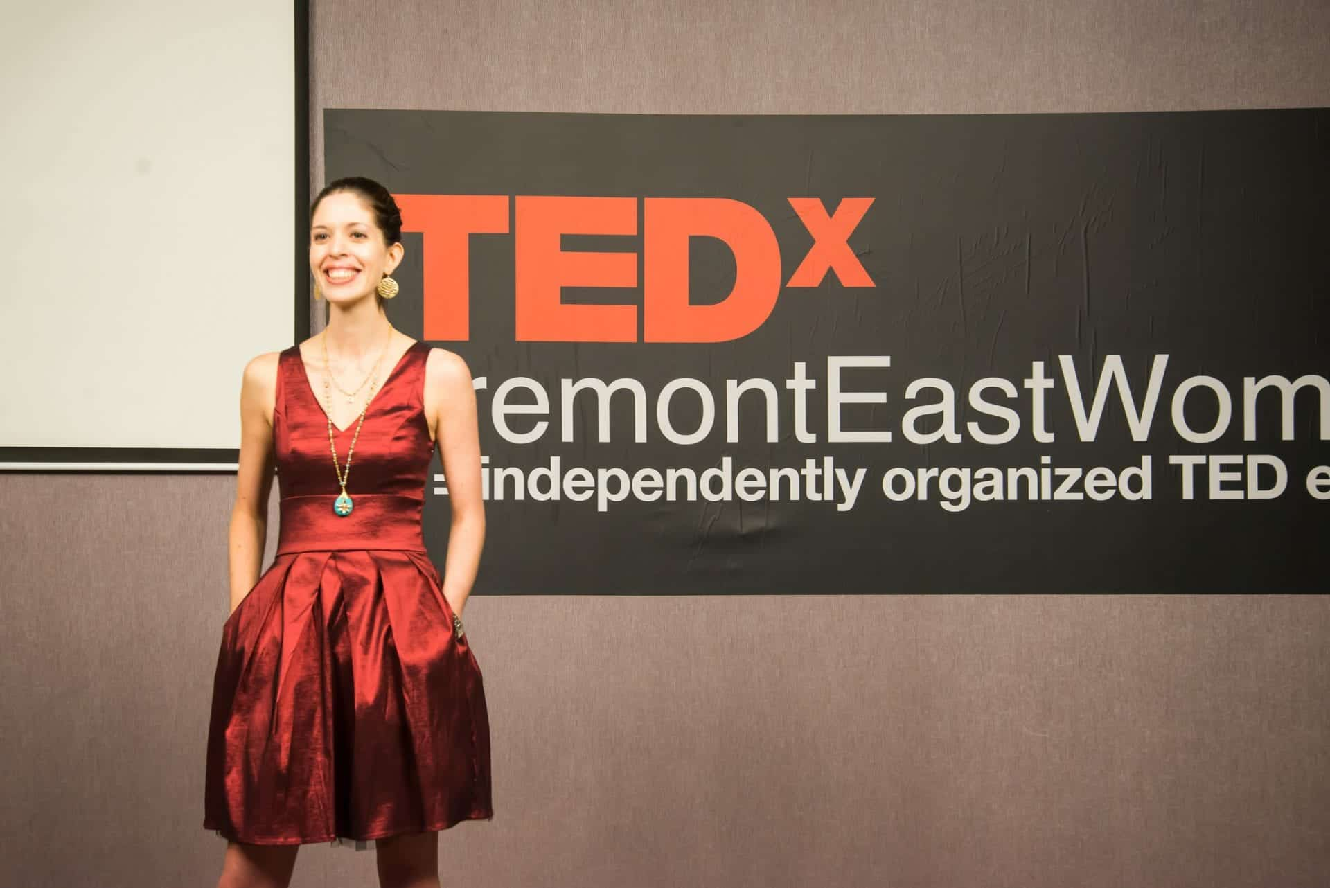 TEDx Alexia Hands in Pockets