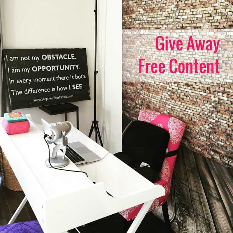 Give Away Free Content