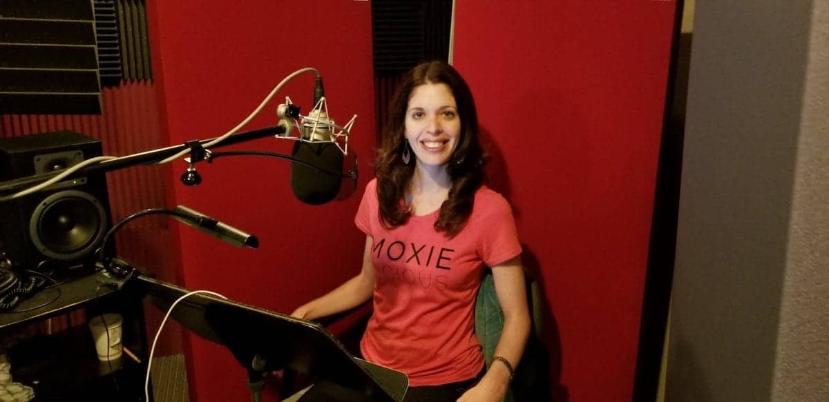 My favorite part of my book journey (recording my audiobook)